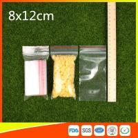 China Ldpe Plastic  Reusable Ziplock Bags 8x12 cm With Colorful Line wholesale