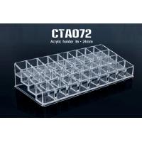 China 36 Holes 24mm Acrylic Cosmetic Bottle Display Lipstick Stand Holder wholesale