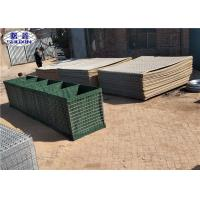 China Green Fodable Sand Filled Barriers Geotextile Lined Feature Easy Installation wholesale