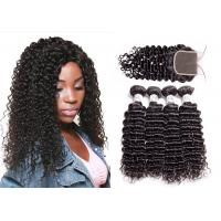 China QueenLife Long Virgin Malaysian Remy Deep Curly Human Hair Weave Can Be Restyled wholesale
