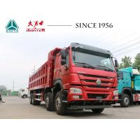 China HOWO Tipper 6x4 Sinotruk Dump Truck , Dump Tractor Trailer 12 Wheeler For Quarry wholesale