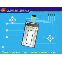 China Metal Dome LED embossing tactile Membrane Switch Keypad With Connector wholesale