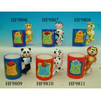China Durable Household Ceramics Cartoon Coffee Cup With Panda Animals Handle 12 X 8 X 13 Cm wholesale