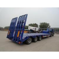 China Heavy Duty 3 Axles Low Bed Semi Trailer For Tracked Vehicles Customized wholesale