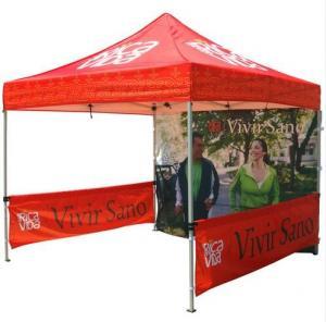 China Red 10x10ft Easy Folding garden Pop Up Gazebo Tent Dye Sublimation Printing wholesale