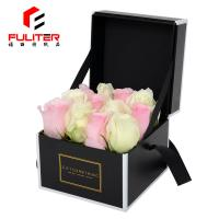 China Unique and luxurious black flower box/customized fresh-keeping rose shipping box on sale