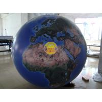 China 2m Huge Inflatable Helium Earth Balloons Globe with Total Digital Printing with 540*1080 dpi for Trade show wholesale