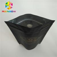 China Food Grade Plastic Pouches Packaging Matt Black Surface Coffee Bag Ziplock FDA Marked wholesale