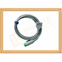 China Fukuda 12 Pin ECG Patient Cable 3 Leads Gray Color CK-03-330 PN , Fast Response wholesale