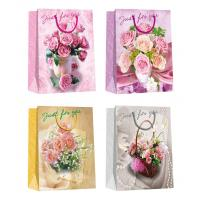 China Valentine day flower pattern designs Paper Shopping Bags wholesale