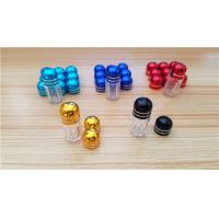 China Empty plastic bottle for pill and capsules / Male enhancement pills bullet bottle with metal cap wholesale