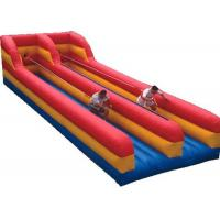 China Inflatable Interactive Games Outdoor Double Lane Inflatable Bungee Run Hire wholesale