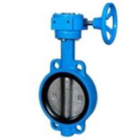 China Zero Leakage Centerline Butterfly Valves Wafer Gearbox Operated Feature on sale