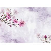 China Plum Flower Pattern 3D Bamboo Wall Panels , TV Background Fiber Wall Panels wholesale