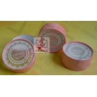 China Customised Pink Cardboard Canister Packaging With Plastic Jar wholesale