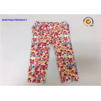 China Chrysanthemum Water Ink Baby Girl Printed Leggings With 95% Cotton 5% Spandex wholesale