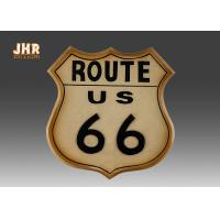China Route 66 Key Box Wooden Wall Plaques Wooden Key Holders wholesale