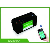 China Lifepo4 Bluetooth Lithium Battery 12 Volt 200Ah 2000 Cycles Life With Heating Film wholesale