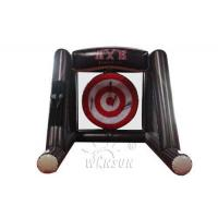 China 2019 Hot game outdoor inflatable Single Axe throwing game, Lumberjack throw sport games for sale wholesale