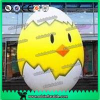 China 2m Inflatable Chicken Cartoon Advertising Giant Egg Inflatable For Event wholesale