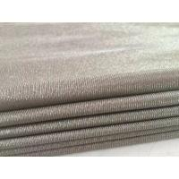 China 100%silver fiber knit anti electromagnetic radiation fabric for maternity dress wholesale