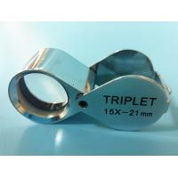 China Folding Glass Jewelry Loupe with Magnification of 15X and Triplet Lens wholesale