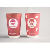 China Red Custom Printed Disposable Coffee Cups To Go For Office / Home wholesale