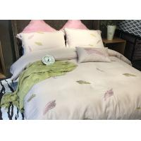 China Cotton Blending Embroidered Twin Bed Duvet Covers And Shams Size Customized wholesale