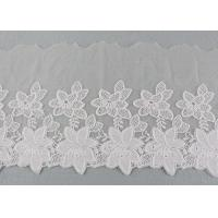 China Embroidered Lace Ribbon Cotton Nylon Tulle Lace Trim For Fashion Designers wholesale