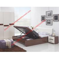 China Storage bed box with oil bar support in dark oliver painting and white headboard furniture wholesale