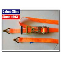 China Rubber Handle 2 Inch Ratchet Straps With Flat Hooks Mini Tie Down Straps wholesale
