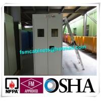 China Gas Bottle Chemical Drum Storage For Fire Protection , Burnable Gas Alarm Drum Storage Cabinet wholesale