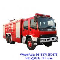 China ISUZU 12000L 280HP Fire Fighter Truck 6 x 4 for sale_ on sale