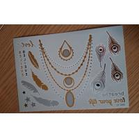 China DIY Jewelry inspired metallic Body Tattoo Stickers Easy apply wholesale