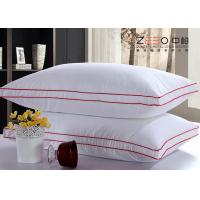 China Microfiber Filling White Hotel Comfort Pillows 100% Cotton Fabric Material wholesale