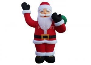 China Custom Advertising Christmas Inflatable Santa Inflatable Santa Claus For Holiday Celebrate wholesale