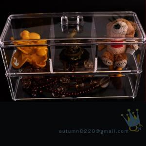 China clear acrylic jewelry organizer box wholesale