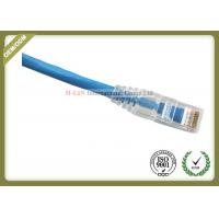 China CAT6 UTP COMMSCOPE Network Patch Cord RJ45 Plug With Blue Jacket Custom Length wholesale