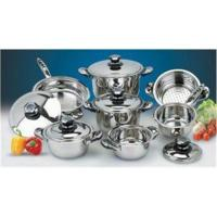 China 0.65mm Body ss 201 Kitchen Stainless Steel Cookware Sets for 13 pcs on sale