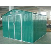 China Green / White / Cream Movable 10x10 DIY Metal Shed For Workshop , Powder Coated Frame wholesale