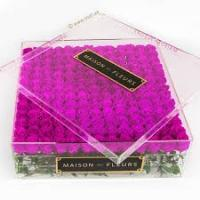 Buy cheap Different Design clear acrylic flowers box Luxury Packaging Box For Flowers with custom Logo from wholesalers