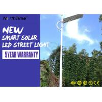 China Aluminum Solar Powered Road Lights IP65 Wall / Pole Mount Night Area Security Lighting 3000LM wholesale