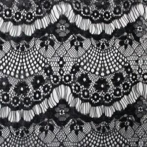 China Fashionable Eyelash Lace Fabric, Customized Colors are Accepted wholesale