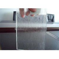 China Colored / Clear Patterned Glass , 3mm - 6mm Thickness Rain Pattern Glass wholesale