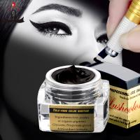 China 5 Ml Black Semi Permanent Makeup Pigments Microblading Ink For Eyebrow Tattoo wholesale