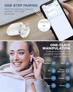 China IPX7 Waterproof Bluetooth 5.0 True Wireless Earbuds 35H Cyclic Playtime TWS Headphones with Charging Case and mic wholesale