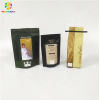 China Coffee Beans Powder Packaging Printed Stand Up Pouches Plastic For Packaging Dry Beans wholesale