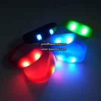 China Buy the newest LED PULSE Motion sensor light up wristbands bracelets wholesale