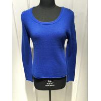 Royal Blue Cashmere Sweater For Ladies , Cashmere Pullover Sweater 2/28nm Yarn Count