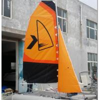 China Easy Take Inflatable Sailing Boat Orange Sailing Cat With Fiberglass Rudder wholesale